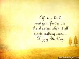 40th birthday wishes quotes and messages wishesmessages