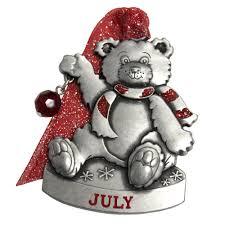 Birthstone Ornament July Birthstone Bear Ornament