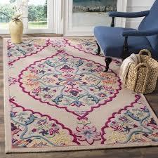 light pink wool rug safavieh bellagio hand woven wool light pink multi area rug 8 x