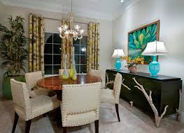 Sideboard Decor Dining Room Transitional With Glass Lamps Area Rug - Dining room table lamps
