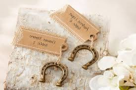 horseshoe party favors lucky in horseshoe place card holders set of 6 place card