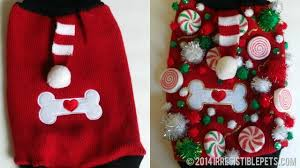 diy ugly christmas sweater for dogs uglysweaterchallenge