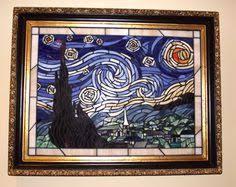 Starry Night Nuit Etoilee Very - mosaic interpretation of vincent van gogh starry night glass