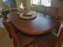 Dining Room Table With 8 Chairs Solid Pine Dining Table And Chairs Picclick Uk Solid Wood Dining