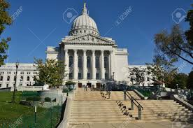 madison wi october 8 wisconsin capitol building on a sunny