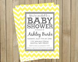 yellow and gray baby shower invitations iidaemilia com