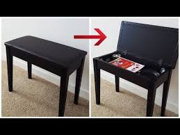 Yamaha Piano Bench Adjustable Diy How To Build A Storage In A Piano Bench Youtube