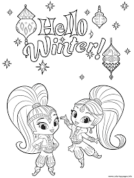 shine shimmer winter coloring coloring pages printable