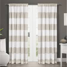Sears Curtains Blackout by Half Moon Stripe Blackout Window Curtain Panel Set Hayneedle