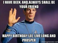 spock birthday greeting birthday greetings pinterest birthdays