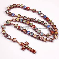 wooden rosaries painted wooden cord rosary necklace buy cord rosary