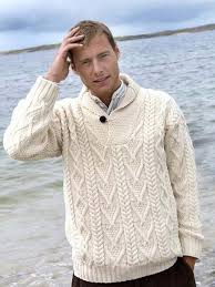 sweater mens s aran wool v neck sweater buy sweater shop dublin