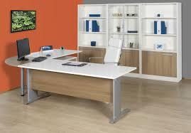 L Shaped Desk Home Office Furniture Orange Grey Color Home Office L Shaped Desk Unique