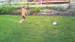 nicolette backyard soccer goal youtube