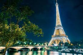 Eiffel Tower Garden Decor Eiffel Tower France Paris City Night Landscape 555fj Living Room