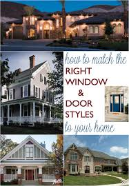 Colonial Style Windows Inspiration How To Match The Right Window And Door Styles To Your Home Home
