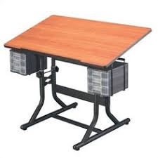 Martin Drafting Table 41127 Martin Art Hobby Craft Desk Stool Black Cherry Drawers