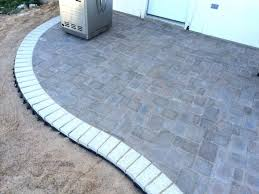 Cutting Patio Pavers Inspiring How To Build A Kidney Bean Shaped Paver Patio Diy Types