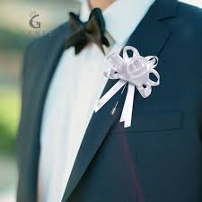 wedding boutonnieres 12pcs ivory wedding boutonnieres for men artificial flowers silk