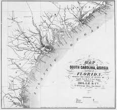 south carolina beaches map 1861 map of south carolina and coast