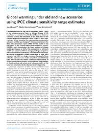 global warming under old and new scenarios using ipcc climate