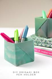 Origami Desk Organizer Dress Your Desk In Style With These Origami Pen Holders