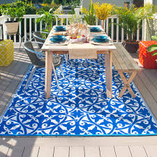 Outdoor Rug Fab Hab San Juan Outdoor Rug In Blue Easily Transform Your