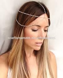 chain headpiece wedding jewelry hairbands designs rani haar beaded bridal