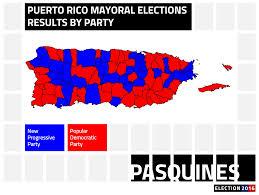 Puerto Rico Map Us by Popular Democratic Party Retains Control Of Majority Of Puerto