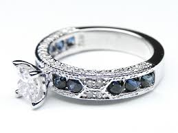 sapphire accent engagement rings wedding rings ring with opal side stones oval sapphire