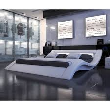 White Leather Platform Bed Queen Size Modern Platform Bed In From Hearts Attic Things I