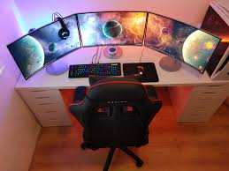 gaming setup pc ideas living room home decor reddit mac setups