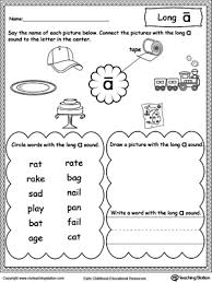 ideas collection long vowel sounds worksheets for kindergarten