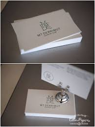 one color two sided letterpress business cards