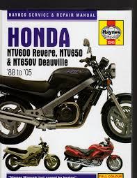 honda ntv600 revere ntv650 u0026 nt650v deauville 1988 to 2005