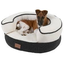 canap pour petit chien pas cher kerbl lit douillet leonardo ø50cm pour chien gris et blanc