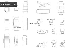 beauty salon furniture cad blocks free download