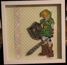 unique home decor gifts zelda link legend of zelda quilling abstract art home decor gifts