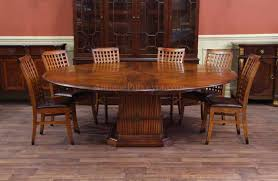 solid walnut round dining table with self storing leaves awesome