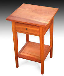 Shaker End Table Three Shaker End Tables With Shelf Cherry Finewoodworking