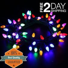 high quality static outdoor led christmas lights with a black
