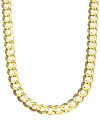 Name Chains Gold Cuban Chain Link Necklace In 10k Gold Necklaces Jewelry