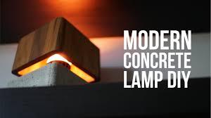 diy modern concrete lamp that