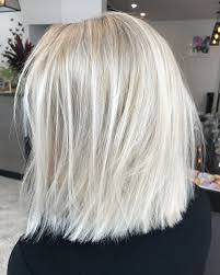 platinum hairstyles with some brown blonde lob textured short hair colour lived in hair colour cool