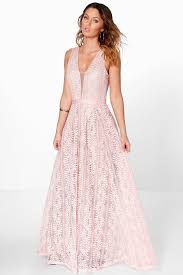 plunge dress boutique ali all lace plunge neck maxi dress boohoo