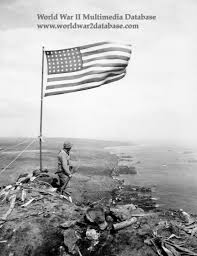 World War 2 Us Flag Second Flag On Mount Suribachi The World War Ii Multimedia Database