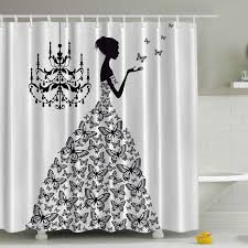 Rhinestone Shower Curtain Hooks Black Shower Curtains You U0027ll Love Wayfair