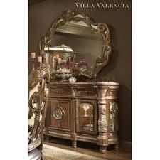 Michael Amini Furniture Used 3 518 00 Villa Valencia Sideboard With Mirror By Michael Amini