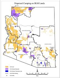Tucson Arizona Map by Map Of Blm Camping In Arizona Rolling With Grass