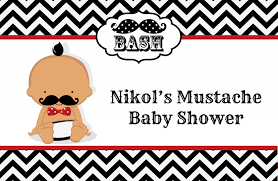 little man mustache black grey baby shower place mats little man